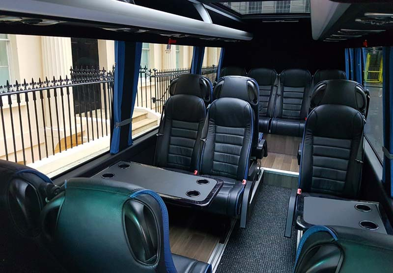 Platinum Coach Services | Mercedes Sprinter Interior