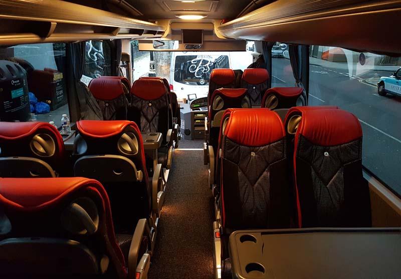 Platinum Coach Services | Mercedes Torino Interior Front