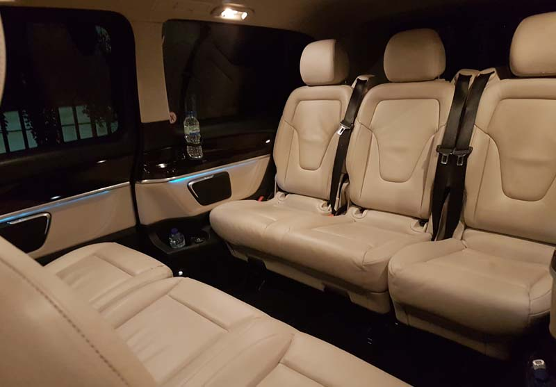 Platinum Coach Services | Mercedes V-Class Interior